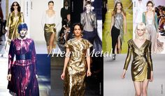 Heavy metal: High shine metallics in every shade of the color spectrum are in for spring, a trend that takes its cue from the original source. Glossy gold, platinum and bronze hued jewels fit the bill