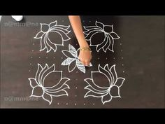 Deepavali special Deepam Rangoli || Kolam with dots || 13-7 interlaced dots || - YouTube