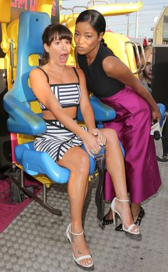 Lea Michele & Keke Palmer from The Big Picture: Today's Hot Pics  The two ride on the Scream Queens ride at  2015 Comic-Con. See more pics of star sightings!