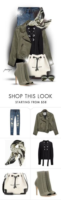 """Lace-Up Cashmere"" by rockreborn ❤ liked on Polyvore featuring Hollister Co., Acne Studios, BCBGMAXAZRIA, Joseph, Balenciaga, Gianvito Rossi and Club Monaco"