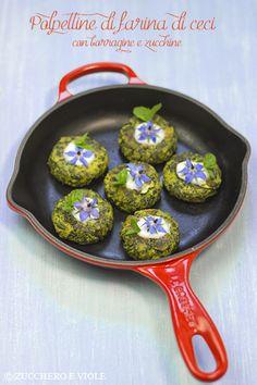 zucchero e viole vegetarian-vegan blog: Polpettine di borragine e zucchine