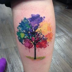 Image result for colorful flowering tree tattoos