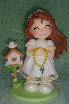 Porcelana Fria - Cold Porcelain - Niña Primera #Comunión - Girl First #Communion