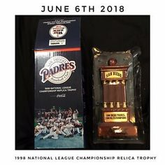 d0bc747b666 New In Box San Diego Padres 1998 Replica Trophy Limited From 2018 Baseball
