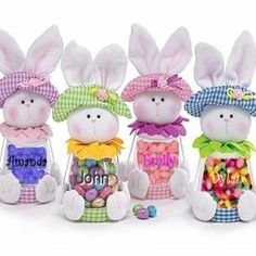 Personalized Bunny Jars.  make and sell on Etsy?