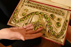 Yesterday Yorkshire monks auctioned a set of jewels from a libertine prince which fetched £30,000. The unusual auction at the Community of the Resurrection in Mirfield featured the jewels, which were worn at the wedding of Princess Charlotte in 1816, who has been described as the Princess Diana of her day...The jewels, all peridots set in gold, includes a necklace, two bracelets, earrings and five brooches sent with a letter by Prince Regent (Princess Charlotte's father) to Lady Charlotte…