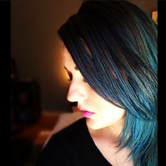 Take a walk on the wild side like our RUSK fan by swapping out your do for a for a bold teal blue lob.