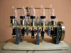 5-Zylinder Reihe Stirlingmotor (5-cylinder inline stirling engine) Mechanical Design, Mechanical Engineering, Inline, Stirling Engine, Steam Boiler, Mens Toys, Combustion Engine, Gadget Gifts, Machine Design