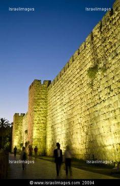 Old City Walls of Jerusalem near Jaffe Gate