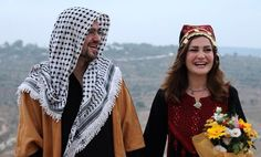 A picture of a marriage of two Americans in Palestine❤️