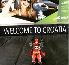 StorMan arrived at his first destination in Croatia. Hopefully his bags and superhero gear made it too.