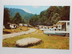 Old Postcard Fontana Resort Village North Carolina Circle Road | eBay