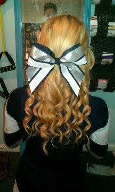 Popukar girl: Cheer hair!/softball hair/ me: Lucinda Hair!