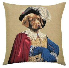 Golden Retriever Aramis Belgian Tapestry Dog Cushions  http://www.abentleycushions.co.uk/detail.asp?pID=2734