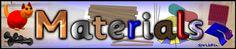 Materials display banner (SB1810) - SparkleBox