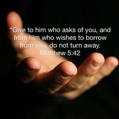 Matthew 5:42