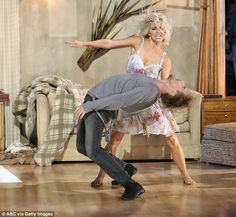 Action shot: Julianne and brother Derek Hough danced as Sia performed her hit song Elastic...