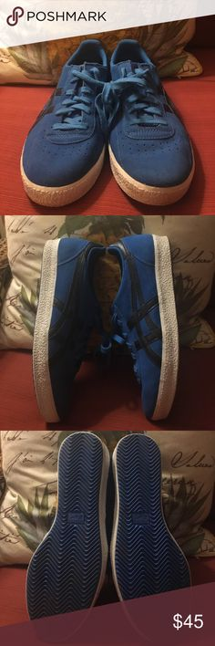 Onitsuka Tiger Shoes Size 10 These Blue & Black Tiger Shoes are in good condition! Inside soles show some wear and bottom soles are in good shape. Onitsuka Tiger by Asics Shoes Sneakers