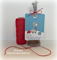 Winter Alpaca by Lawn Fawn Kimberly's Crafty Spot: Card (Tag) Harmony- Christmas Tags