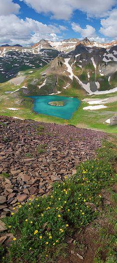 Island Lake, Vermillion Peak, and Golden Horn Peak, Colorado  aaronspong.com