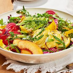 Farmers Market Salad With Ribboned Goat Cheese Omelet - Shape.com