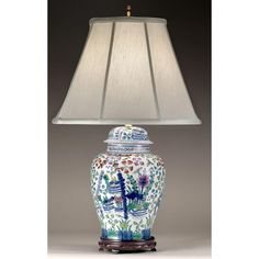 Prince Albert Lamp Pink and Blue