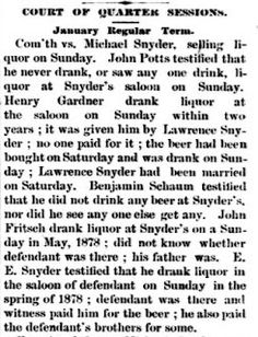 Genealogical Gems: On This Day: Snyder found not guilty