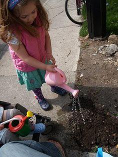 Guerrilla gardening with kids.