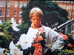 A young Benedict in his parents' balcony garden.