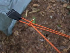 two-to-one-pully: mcarthy and truckers hitch for tensioning guy lines. NB non-sliding knot but still easy to adjust by slipping pulley system.