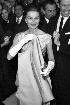 Audrey Hepburn at the Rome premiere of 'Nun's story',1959