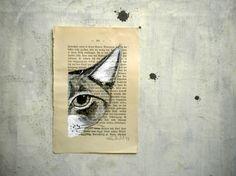Cat Original painting  READY TO SHIP  Mr by verityunmondoaparte, €25.00