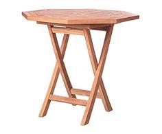 Mesa octogonal plegable de madera de teca