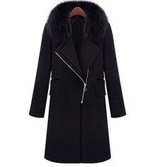 83c16517b77 MIUCOO Női gyapjú szőrme Trench Parka kabát dzseki téli meleg felsőruházati  (XXX-Large)