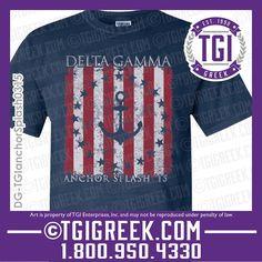TGI Greek - Delta Gamma - Anchor Splash - Comfort Colors - Greek Tank #tgigreek #deltagamma #anchorsplash