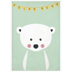 Posters for kids / Plakat A4 Miś polarny