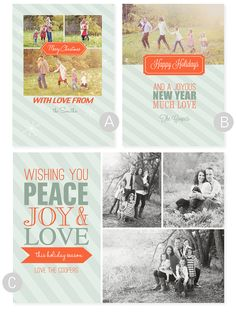 Free Christmas Card Templates - simple as that