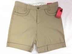 "LEE Khaki Walkshort Comfort Fit Stretch Waist 30"" No Gap Waistband NWT Very Soft #Lee #Walkshort"