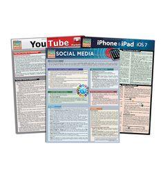 iPhone & Social Media Marketing Reference Sheet Set