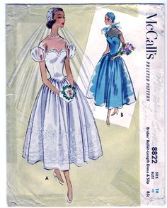 Vintage 1952 McCall's 8822 Sewing Pattern di SewUniqueClassique, $45.00