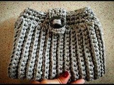 Bolsa de crochê com fio de maha - YouTube
