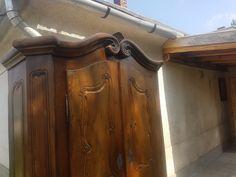 szúrt barokk, eredeti antik bútor, bécsi szekrény