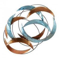 Benzara Brown And Blue Metal Wall Decor 24 X 33