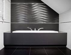Bathroom Design – 35 Modern And Creative Bathroom Ideas Design Your Own Bathroom, White Wall Tiles, Booth Decor, Designer, Bathtub, Relief, House, Bathroom Black, Small Bathroom