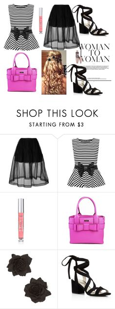"""""""Untitled #142"""" by mercedes-may-mccoy ❤ liked on Polyvore featuring Simone Rocha, WearAll, Victoria's Secret, Kate Spade, Kenneth Cole, Maybelline and stripedshirt"""