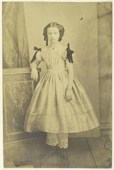 Little girl by Edward Isaak Asser, 1850s