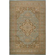 @Overstock - A Persian border and motif accent this machine-made polypropylene rug. This rug is highlighted in shades of aqua, ivory and brown. http://www.overstock.com/Home-Garden/Loomed-Free-form-Aqua-Rug-79-x-112/5540704/product.html?CID=214117 $179.93