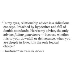Beau Taplin | Relationship Advice