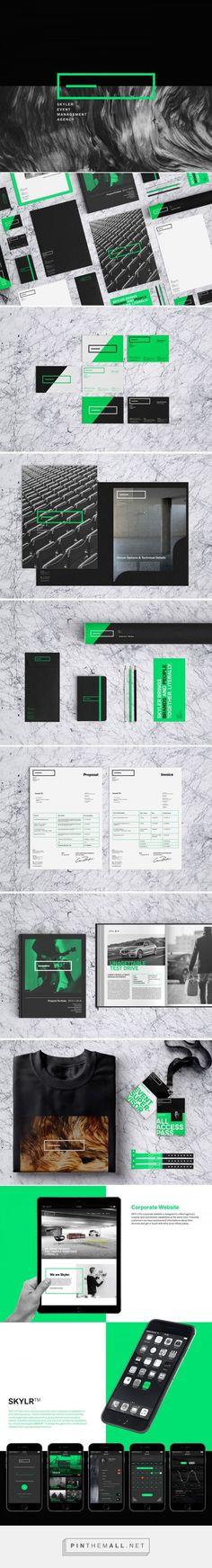SKYLER Event Management Agency Branding by Samet K.   Fivestar Branding Agency – Design and Branding Agency & Curated Inspiration Gallery