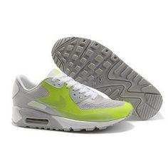 88963c80457b Unique Nike Air Max 90 Hyp Premium Women Lime Grey Green Shoes GBP37.90 -